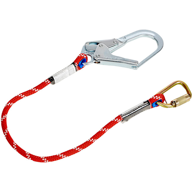 Honeywell Miller Positioning and Restraint Lanyard, 4 Foot, Twist-Lock Carabiner, Locking Rebar Hook from GME Supply
