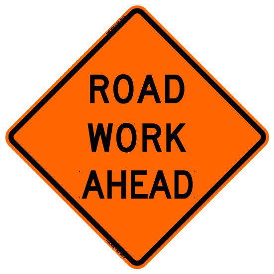 Bone Safety 'Road Work Ahead' Sign from GME Supply