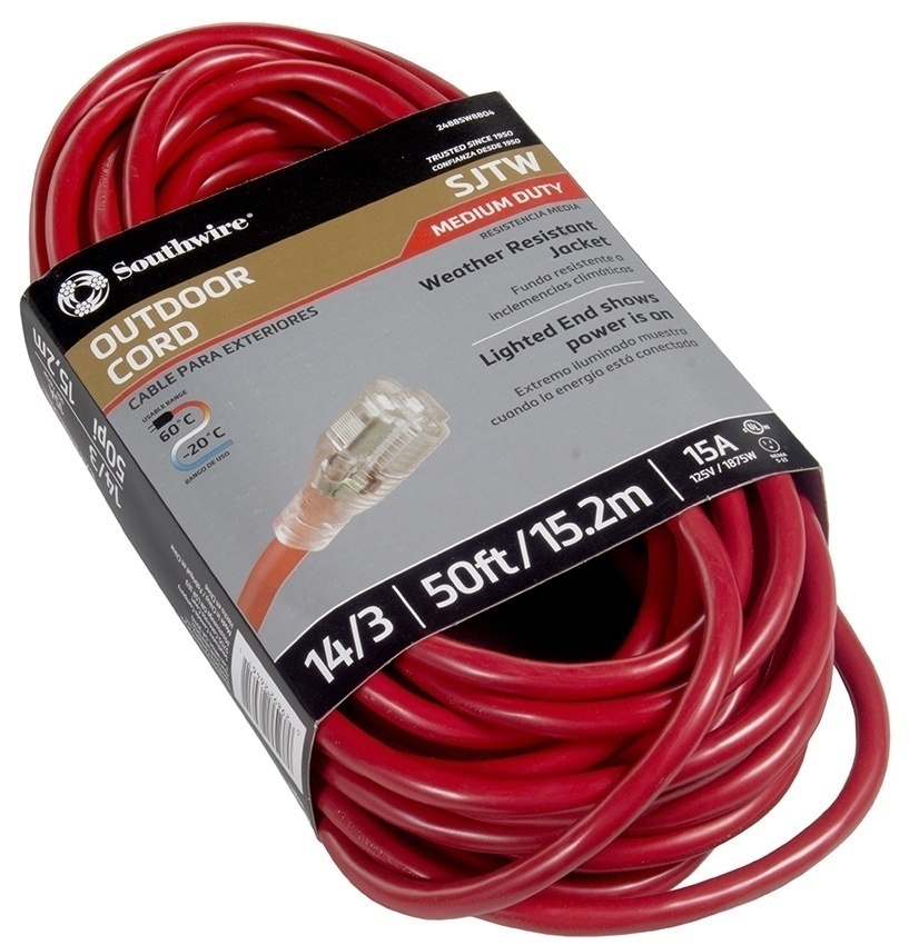 Southwire Outdoor Extension Cord 14/3 SJTW 125V 15A   GME Supply ...