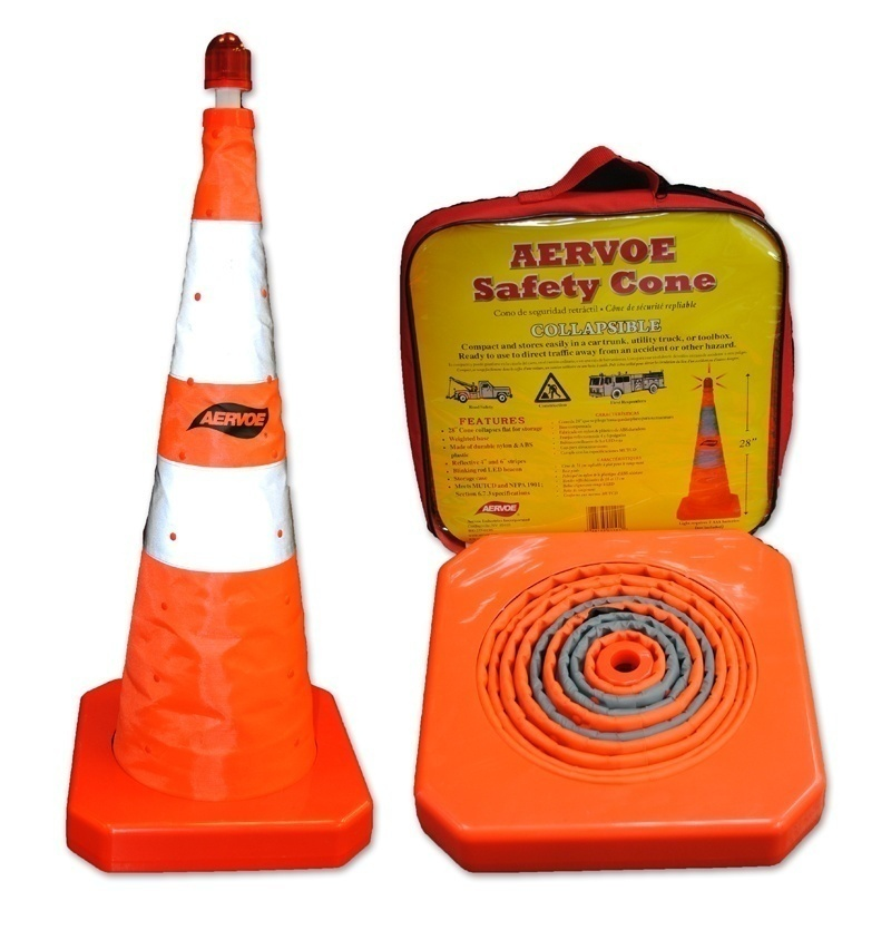 "1191 Aervoe 28"" Collapsible Traffic Safety Cone w/LED"