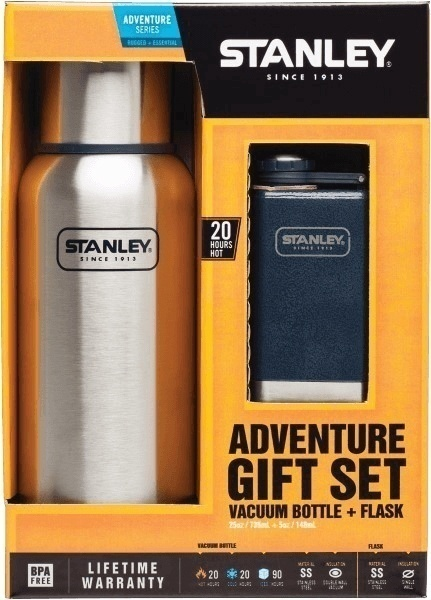 Stanley 25 oz Vacuum Bottle & 5 oz Flask Gift Set from GME Supply