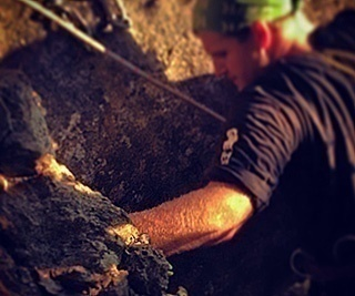 Nathen Sizemore rockclimbing